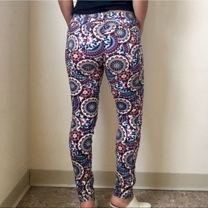 Booty enhancing printed jeans